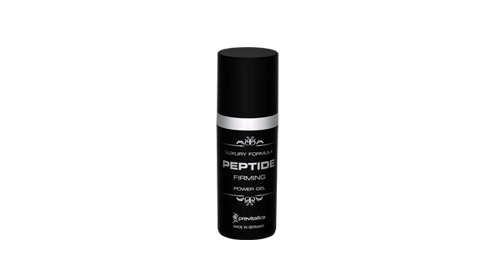 Black Airless Dispensers with Luxury Formula Peptide Firming Power Gel
